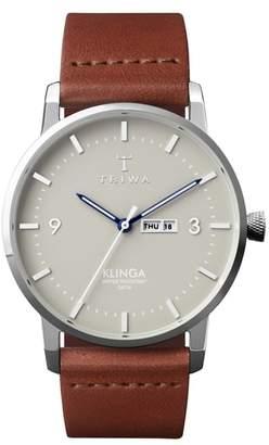 Triwa Mist Klinga Leather Strap Watch, 38mm