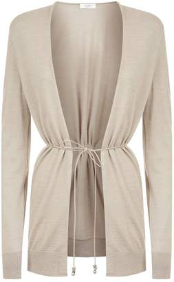 Peserico Ruched Belted Cardigan