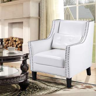 Best Master Furniture's Modern Tufted Leather Accent Chair, White