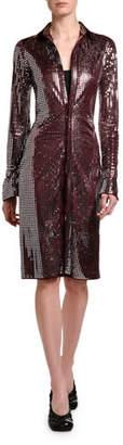 Bottega Veneta Mirrorball Jersey Shirtdress