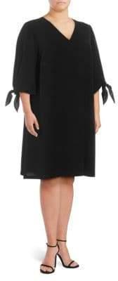 Lafayette 148 New York Plus Kenna Self-Tie Dress