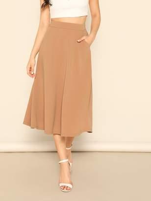 Shein Pocket Side High Waist Skirt