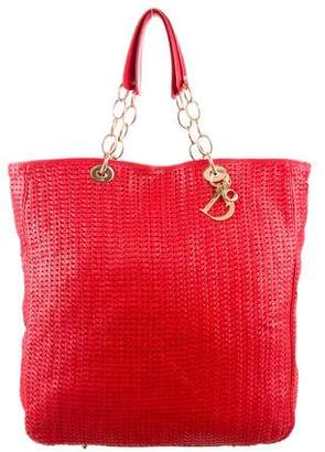 Christian Dior Woven Leather Shopper