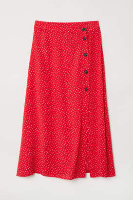 H&M Creped Skirt - Red