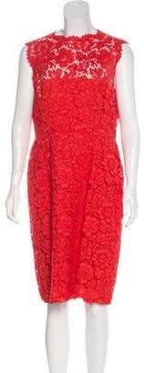 Valentino Lace Sheath Dress