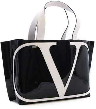 Valentino Vlogo Pvc Shopping Bag