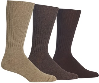 Chaps Men's 3-pack Classics Solid Ribbed Crew Socks