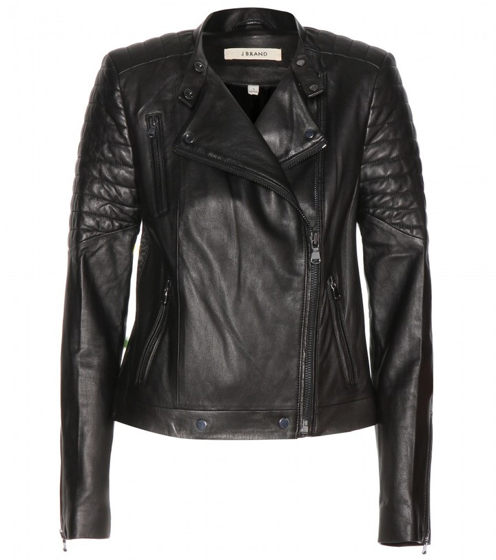 J Brand Crista leather biker jacket