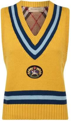 Burberry Archive Logo Sleeveless Sweater