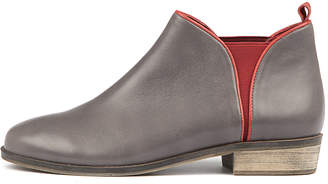 Django & Juliette Stolly Charcoal-red Boots Womens Shoes Casual Ankle Boots