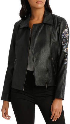 Jacket Embroidered Pleather