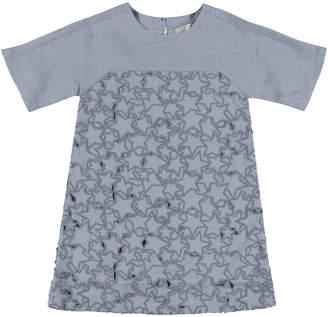 Stella McCartney Short-Sleeve Cutout Star Dress, Size 4-14