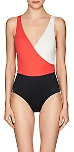 Solid & Striped Women's Ballerina Colorblocked One-Piece Swimsuit - Red, Cream, Black