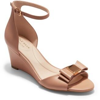 9b93d5b143 Cole Haan Tali Bow Wedge Sandal