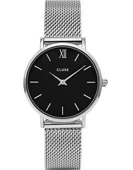 Cluse Minuit Mesh Silver/Black
