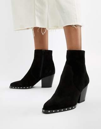 Asos Design DESIGN Radiance suede studded western boots