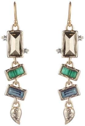 Alexis Bittar Retro Gold Multi Stone Earrings