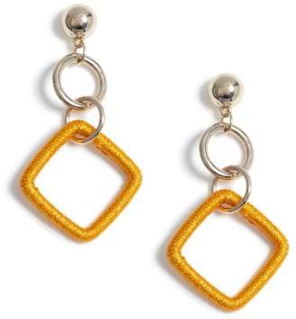 Miss Selfridge Orange Drop Earrings