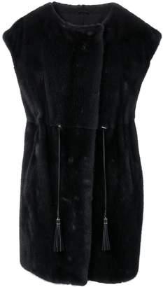 Liska fur trimmed waistcoat