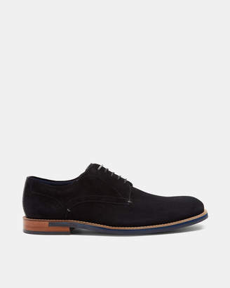 Ted Baker LAPIINN Perforated suede Derby shoes