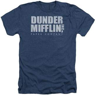 Office The Comedy TV Series Dunder Mifflin Distressed Adult Heather T-Shirt Tee