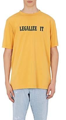 """Palm Angels Men's """"Legalize It"""" Cotton T-Shirt"""