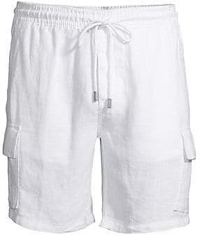 Vilebrequin Men's Linen Cargo Shorts