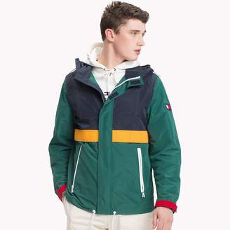 Tommy Hilfiger Colour-Blocked Yarn Dyed Polyester Jacket