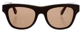 Bottega Veneta Intrecciato Tinted Sunglasses