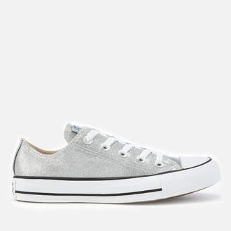 Converse Chuck Taylor All Star Ox Trainers - Silver/Silver/White