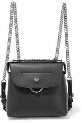 Fendi Back To School Mini Leather Backpack - Black
