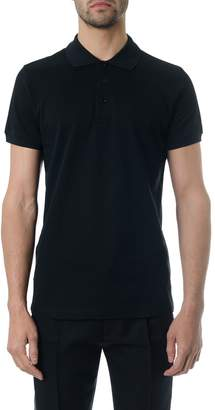 Christian Dior Black Classic Polo Shirt In Cotton