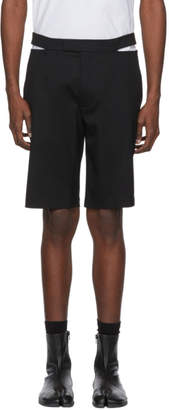 Helmut Lang Black Waist Slit Shorts