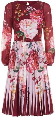 Ted Baker Esperan Pleated Midi Dress