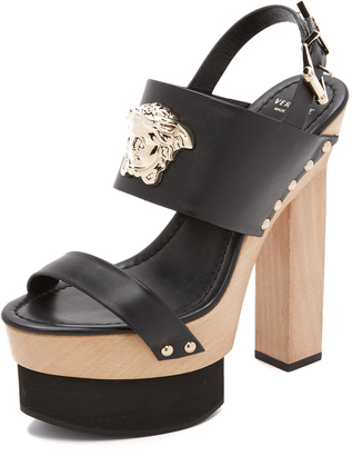 Versace Wedge Sandals $1,040 thestylecure.com