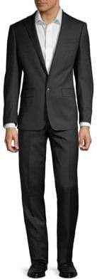 Calvin Klein Extra Slim Fit Windowpane Wool Suit
