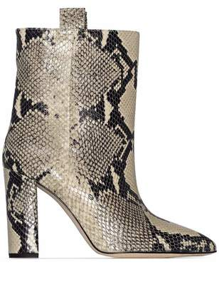 Paris Texas Python Print Short Booties