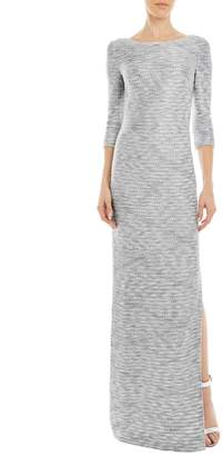 St. John Glint Knit Bateau Neck Dress