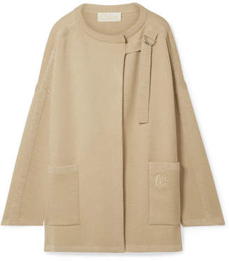 Chloé Oversized Wool-blend Jacket - Sand