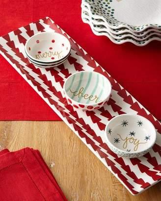 Coton Colors Dart Skinny Tray & Christmas Dip Bowls Set