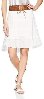Amy Byer A. Byer Junior's High-Low Belted Skirt (Junior's)