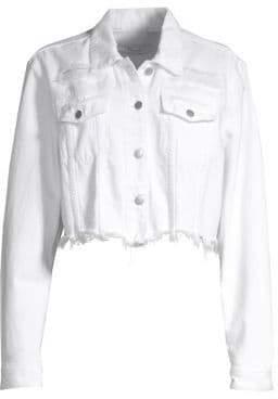 J Brand Cyra Distressed Cropped Jean Jacket