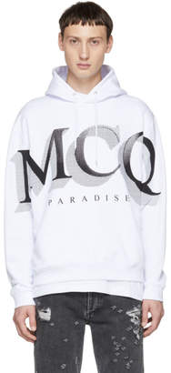 McQ White Logo Big Hoodie
