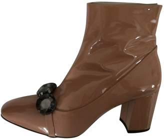 N°21 N21 Camel Patent leather Ankle boots