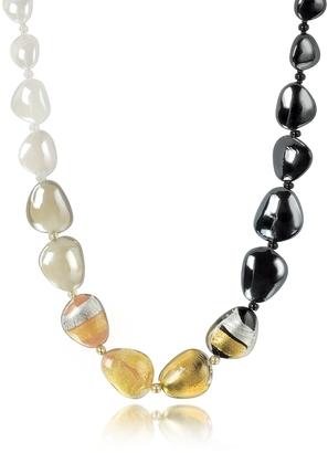 Antica Murrina Moretta Pastel Glass Beads w/24kt Gold Leaf Necklace $115 thestylecure.com