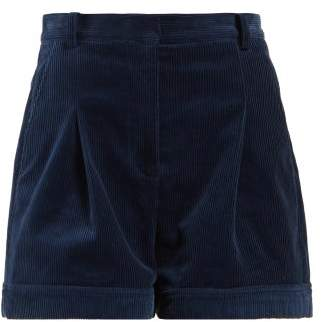 Stella McCartney Corduroy Shorts - Womens - Blue