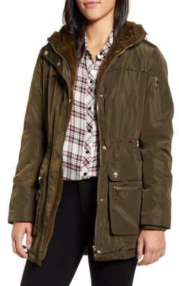Sam Edelman Fleece Lined Hooded Jacket