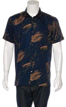 Marc by Marc Jacobs Leaf Print Button-Up Top