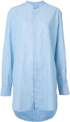 Baja East long striped shirt