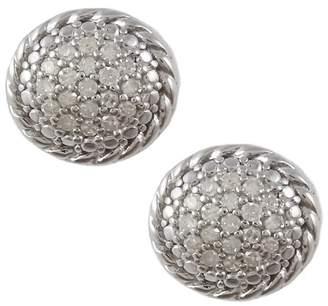 Savvy Cie Sterling Silver Pave Diamond Stud Earrings - 0.20 ctw